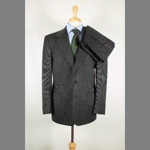 Oxxford 44R 38x29 Pleat Gray Suit 97-V